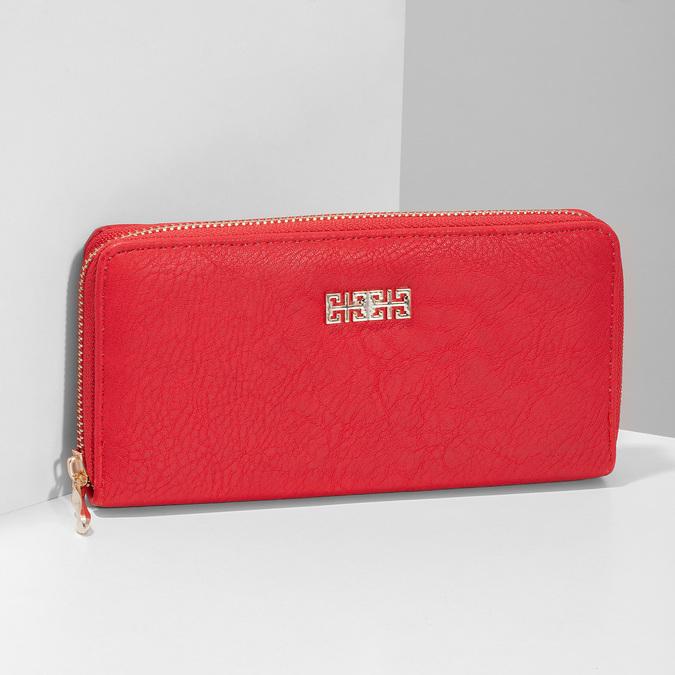 Červená dámska peňaženka bata, červená, 941-5180 - 17
