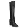 Čierne dámske čižmy na stabilnom podpätku insolia, čierna, 791-6617 - 13