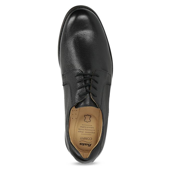 Derby ležérne kožené poltopánky comfit, čierna, 824-6974 - 17