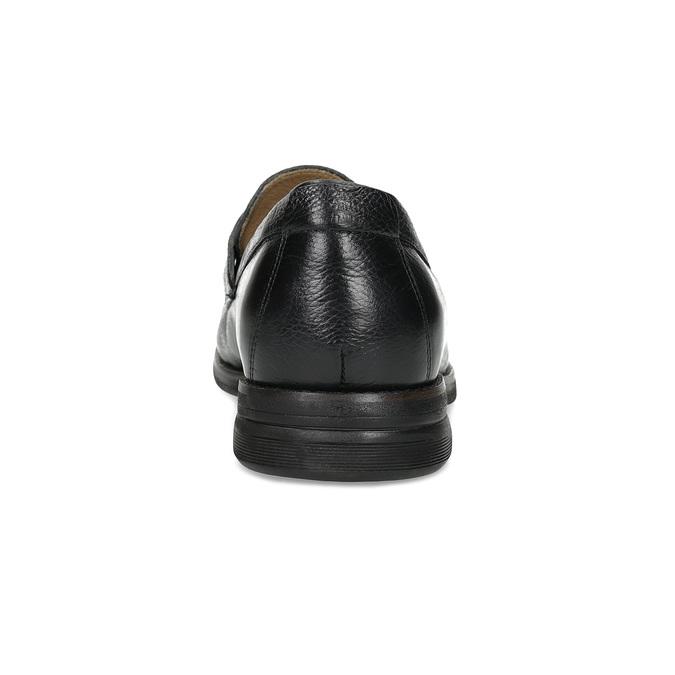 Kožené čierne Penny Loafers mokasíny comfit, čierna, 814-6627 - 15