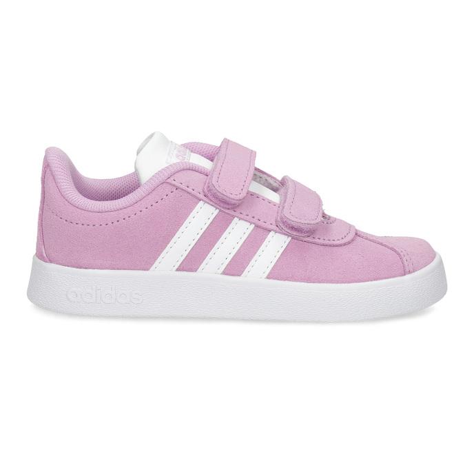 Ružové kožené detské tenisky adidas, ružová, 103-5203 - 19