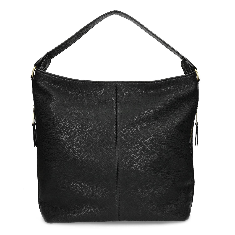 Baťa Čierna dámska kabelka v Hobo štýle - Veľké kabelky  fc1744a624f
