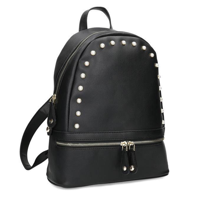 Mestský batôžtek s perličkami bata, čierna, 961-6906 - 13