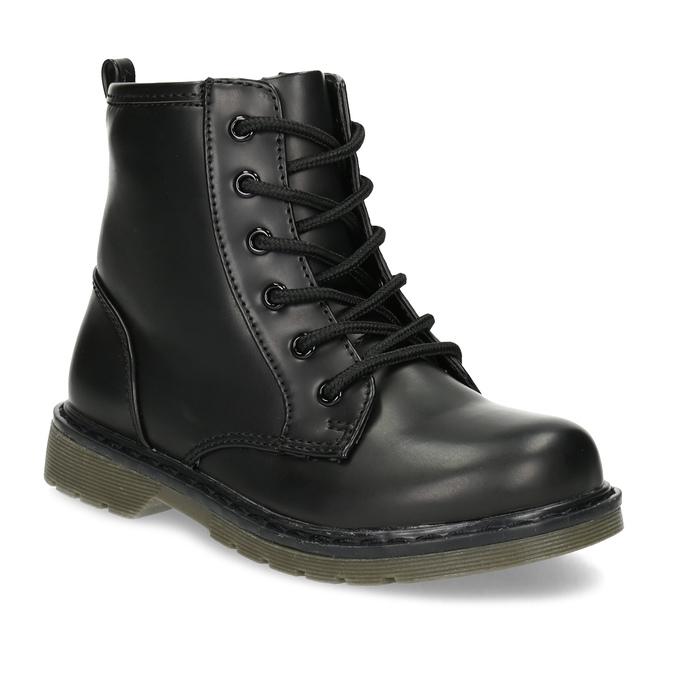 Chlapčenská čierna členková obuv mini-b, čierna, 291-6407 - 13