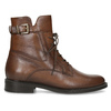 Dámske hnedé kožené čižmy bata, hnedá, 594-4674 - 19