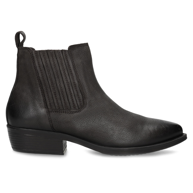 Dámska hnedá členková obuv s pružením bata, hnedá, 596-4969 - 19
