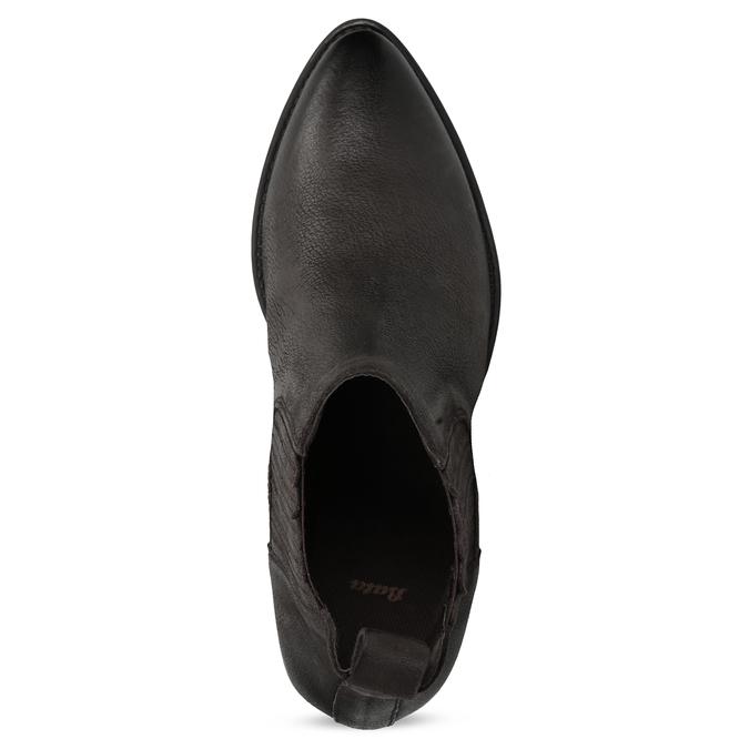 Dámska hnedá členková obuv s pružením bata, hnedá, 596-4969 - 17