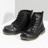 Chlapčenská čierna členková obuv mini-b, čierna, 291-6407 - 16