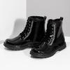 Zimná dievčenská lesklá členková obuv mini-b, čierna, 391-6170 - 16