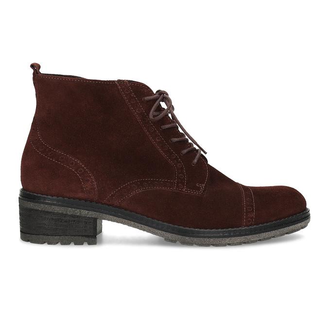 Vínová kožená členková obuv gabor, červená, 623-5029 - 19