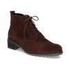 Vínová kožená členková obuv gabor, červená, 623-5029 - 13