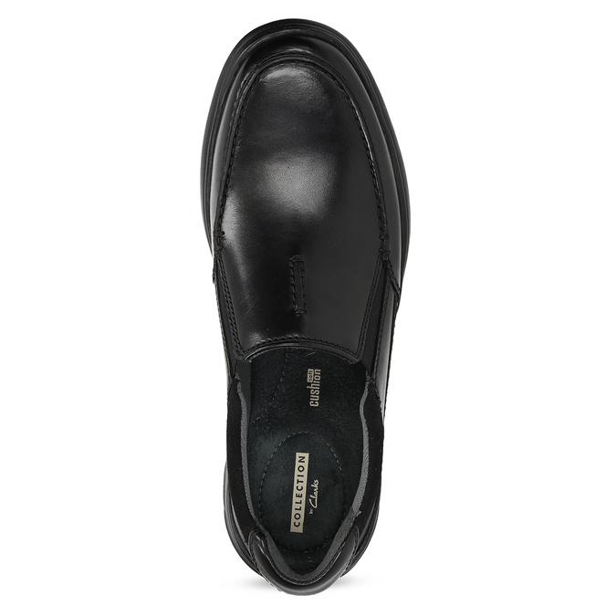 Pánske kožené čierne mokasíny clarks, čierna, 814-6072 - 17