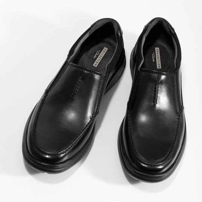Pánske kožené čierne mokasíny clarks, čierna, 814-6072 - 16
