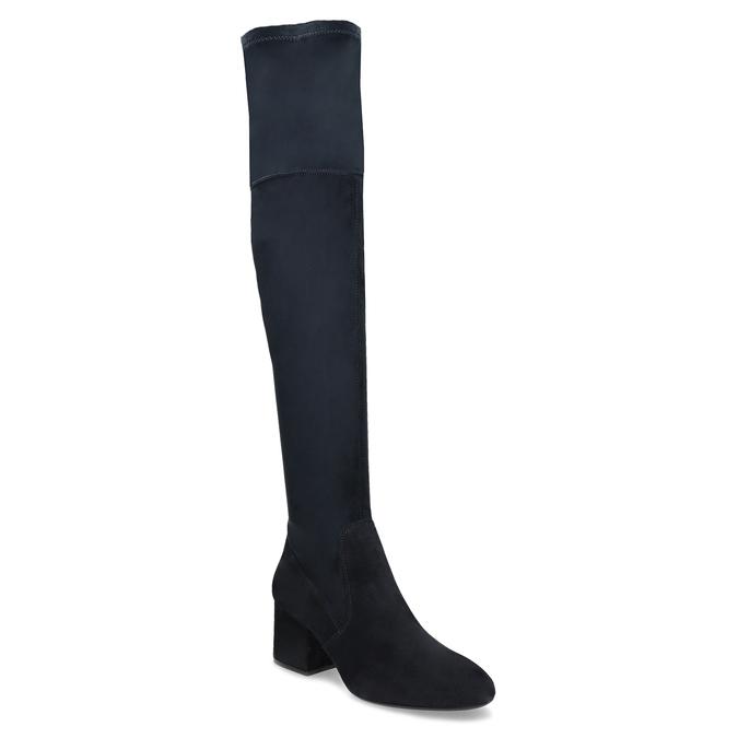 Modré dámske čižmy nad kolená bata, modrá, 793-9614 - 13