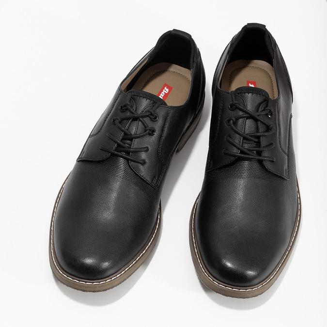 Čierne pánske poltopánky bata-red-label, čierna, 821-9609 - 16