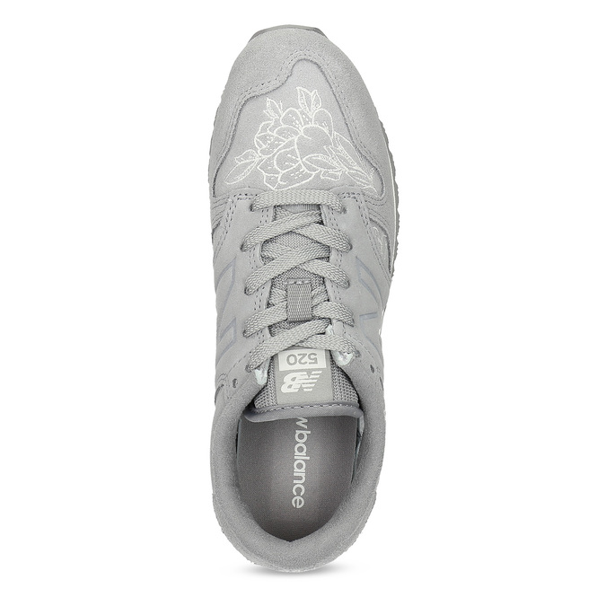 Šedé kožené tenisky so vzorom new-balance, šedá, 503-2176 - 17