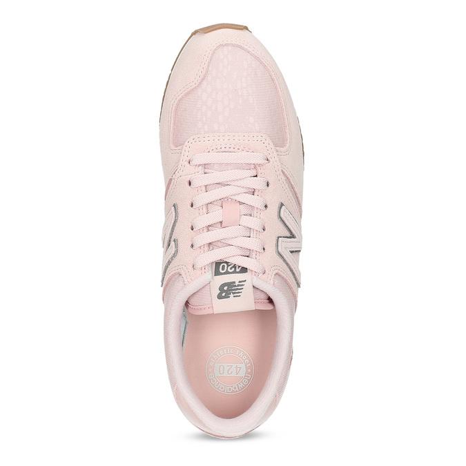 Ružové dámske tenisky z brúsenej kože new-balance, ružová, 503-5172 - 17