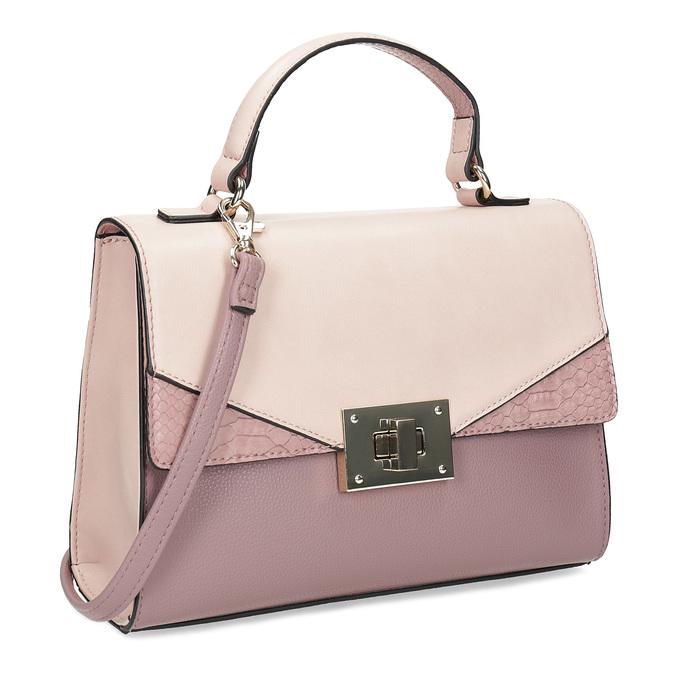 Staroružová dámska kabelka bata-red-label, ružová, 961-9892 - 13
