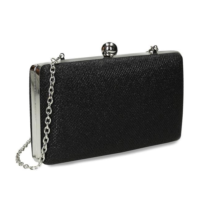 Čierna trblietavá listová kabelka bata, čierna, 969-6702 - 13
