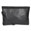 Čierna listová kabelka s klopou a kamienkami bata, čierna, 961-6910 - 16