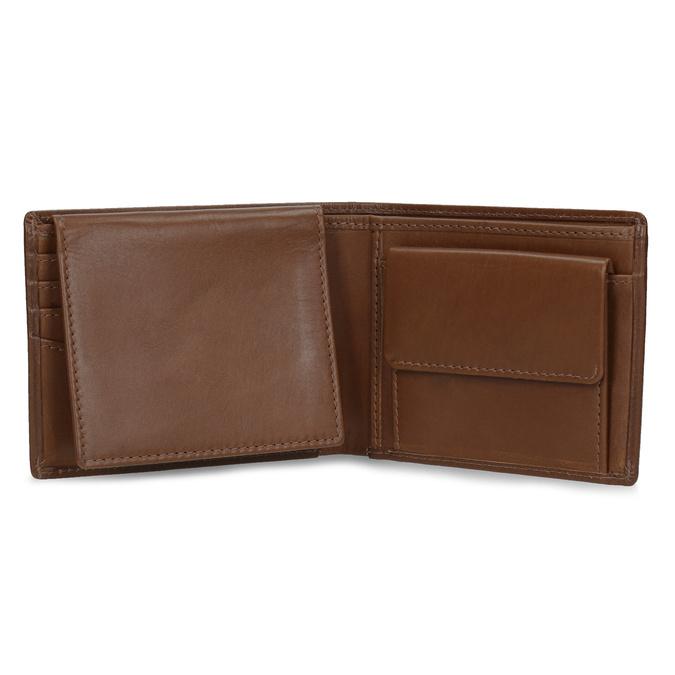Hnedá kožená pánska peňaženka bata, hnedá, 944-3223 - 15