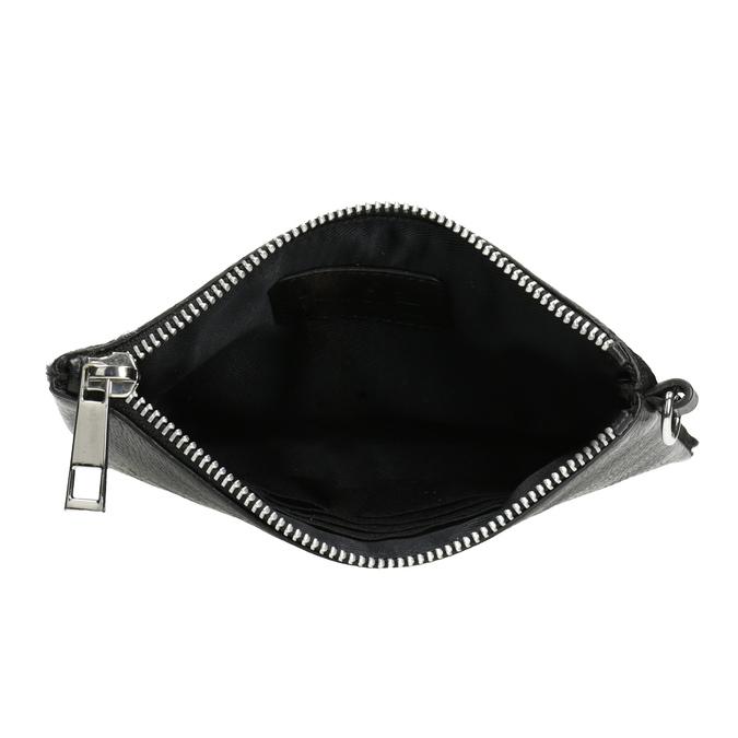 Kožené vrecko s kožušinkou bata, čierna, 944-6227 - 15