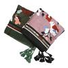 Dámska šatka so vzorom a strapcami bata, viacfarebné, 909-0711 - 13