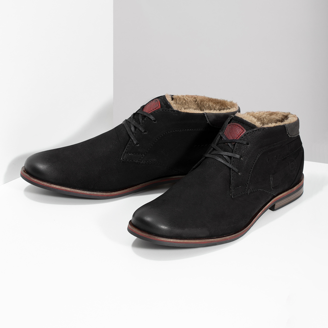 Bugatti Zimná pánska kožená obuv čierna - Všetky topánky  0204aabe3b9