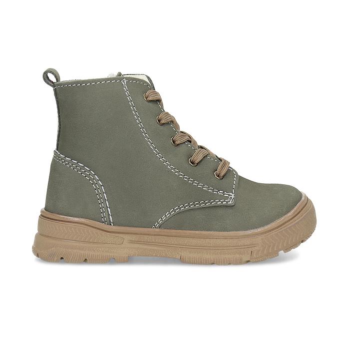 Detská kožená zimná obuv s prešitím mini-b, 296-3600 - 19