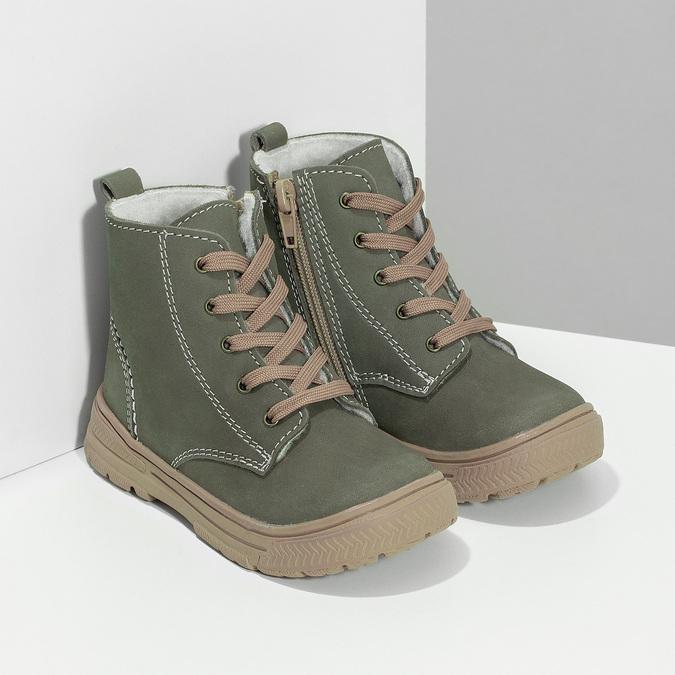 Detská kožená zimná obuv s prešitím mini-b, 296-3600 - 26