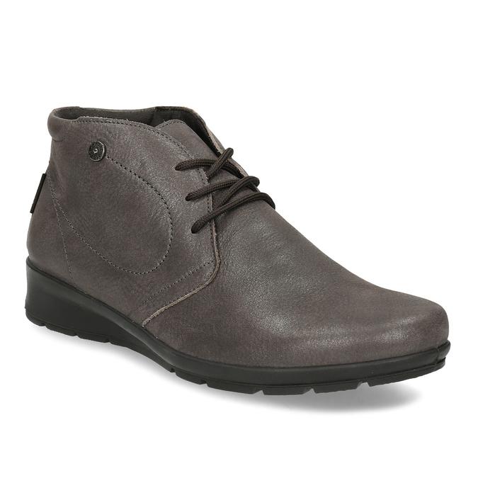 Dámska kožená členková obuv comfit, hnedá, 596-4707 - 13