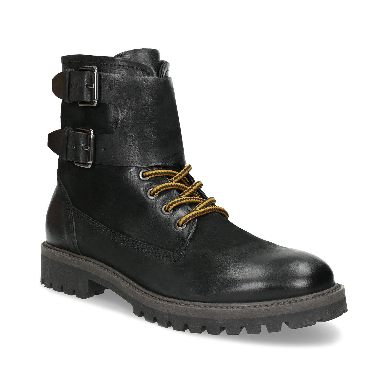 Baťa Pánska kožená zimná čierna obuv - Hard Worker  80068ad47f2