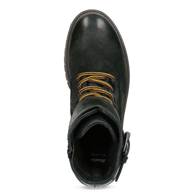 Pánska kožená zimná čierna obuv bata, čierna, 896-6735 - 17