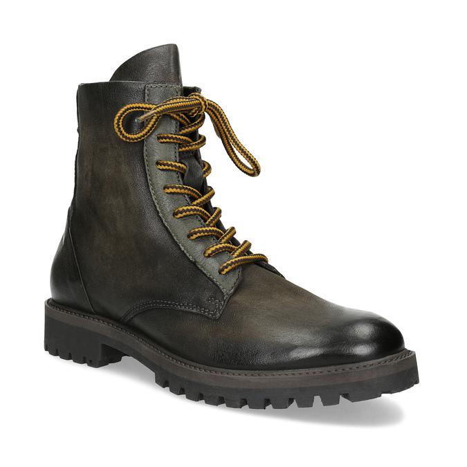 96c8360064ba1 Zimná vysoká kožená členková obuv bata, šedá, 896-2737 - 13
