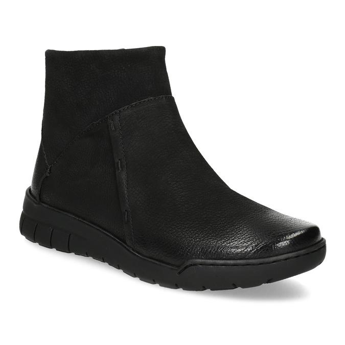 Kožená dámska členková obuv bata, čierna, 596-6706 - 13