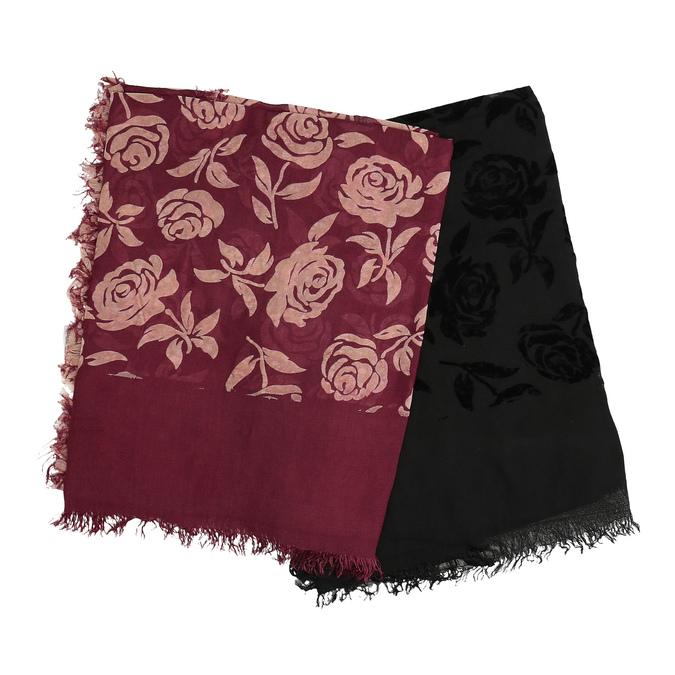 Dámska šatka s kvetinovým vzorom bata, viacfarebné, 909-0702 - 13