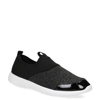 Dámske čierne ležérne tenisky bata-red-label, čierna, 549-6612 - 13