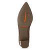 Hnedé kožené lodičky s kovovou prackou rockport, hnedá, 716-3085 - 18