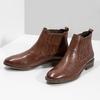 Kožená dámska obuv v Chelsea štýle bata, hnedá, 594-4682 - 16