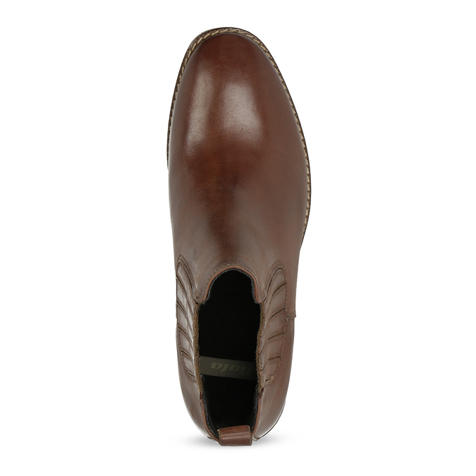 Kožená dámska obuv v Chelsea štýle bata, hnedá, 594-4682 - 17