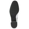 Biela kožená členková obuv s prackou bata, biela, 694-1673 - 18