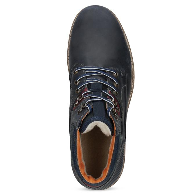 Kožená členková pánska zimná obuv bata, modrá, 896-9716 - 17