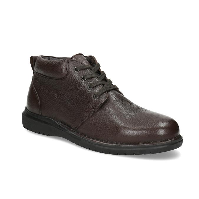 Kožená pánska členková obuv comfit, hnedá, 896-4701 - 13