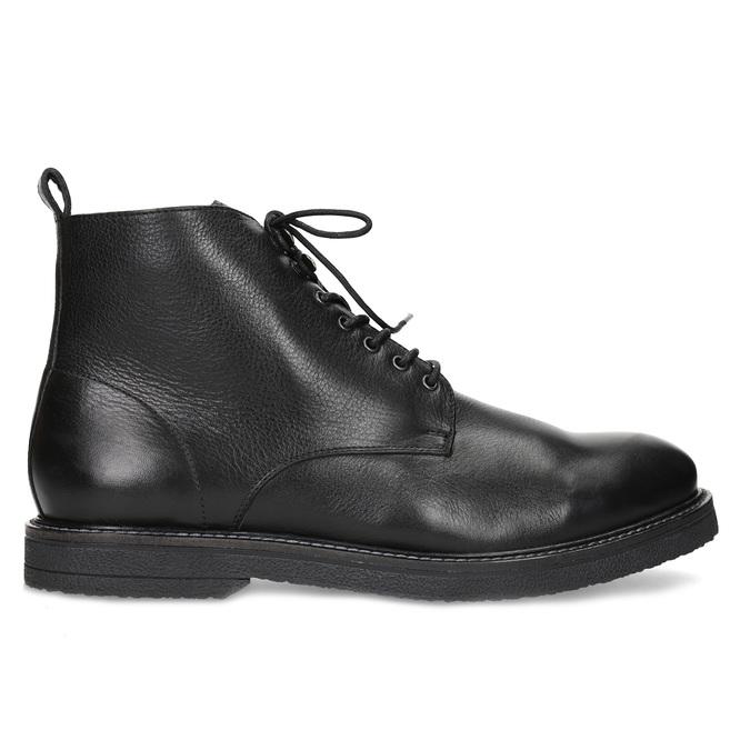 Čierna kožená členková pánska obuv bata, čierna, 894-6721 - 19