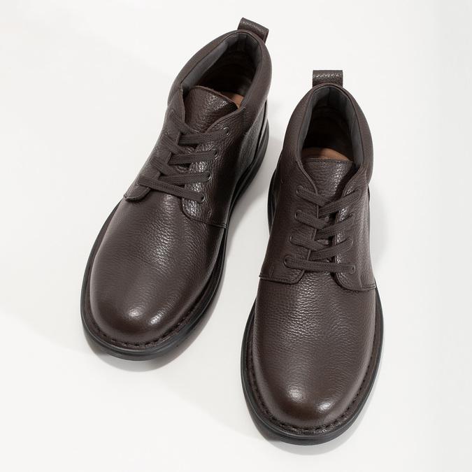 Kožená pánska členková obuv comfit, hnedá, 896-4701 - 16