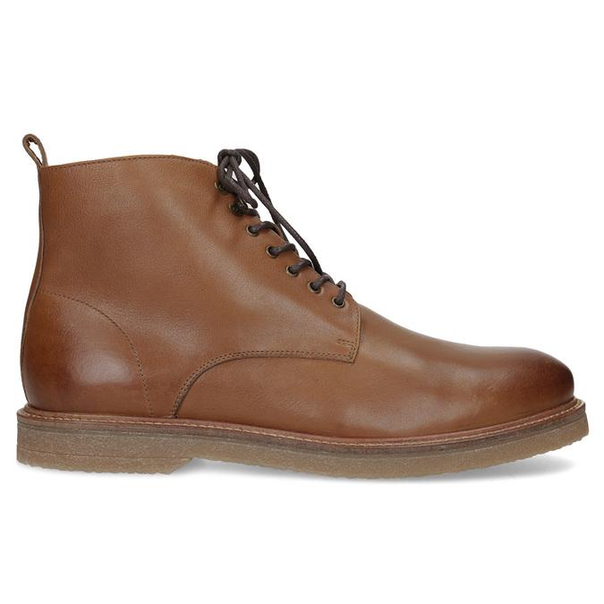 Hnedá kožená členková pánska obuv bata, hnedá, 896-3721 - 19
