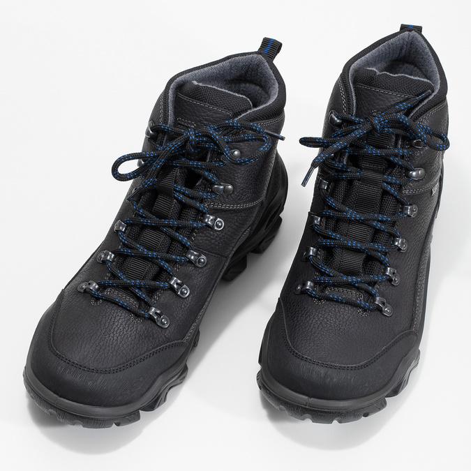 Pánska kožená outdoor obuv weinbrenner, čierna, 896-6706 - 16