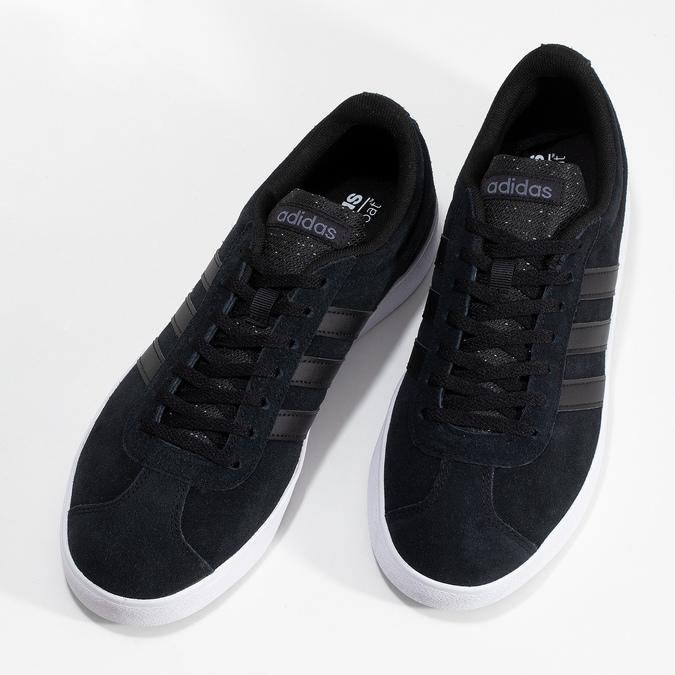 Čierne pánske kožené tenisky adidas, čierna, 803-6119 - 16
