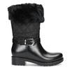 Dámske čierne snehule s kožúškom bata, čierna, 592-6602 - 19
