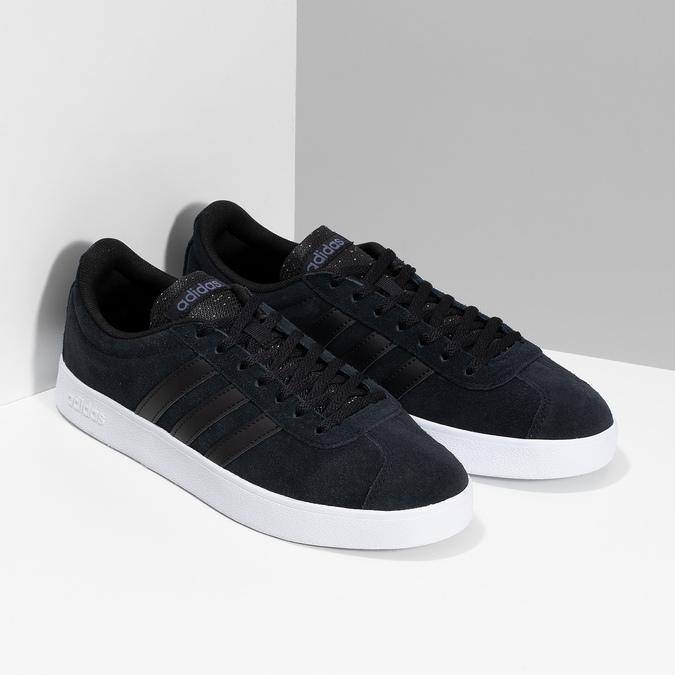 Čierne pánske kožené tenisky adidas, čierna, 803-6119 - 26